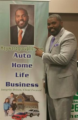 CEO Bryan Heyward Marketing at a Trade Show