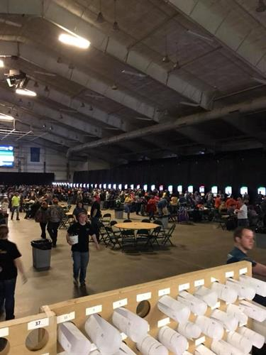 Tri-Company 2018 our yearly dart tournament at the Swiftel Center Brookings SD