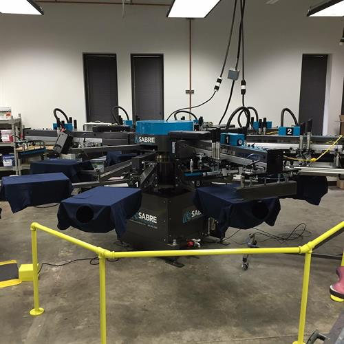 Automatic screen print press