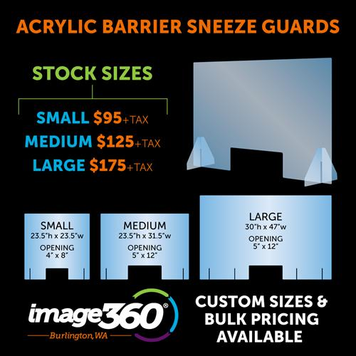 Customer and Stock Acrylic Sneeze Guart Barriers