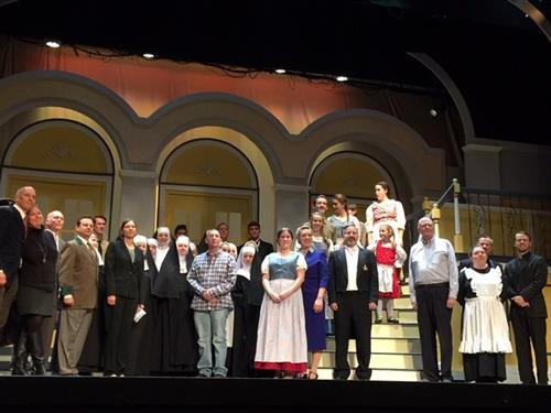 Sound Of Music Production at the Fort Lee Playhouse theater.