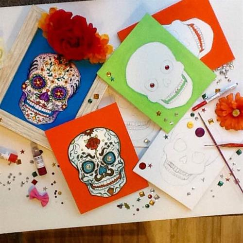 Paint Mixed Media & Sip Events:  Each month we have different events.