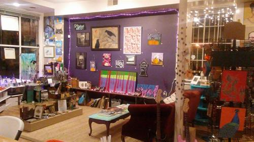 Featured Monthly Artist Wall, Artists are invited to Inquire; Call to Reserve your month!