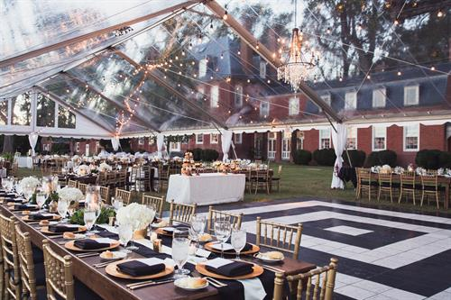 Black and White Elegant Wedding Reception