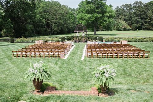Wedding Ceremony Fruitwood Chairs
