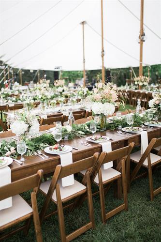 Wood Toned Wedding Reception