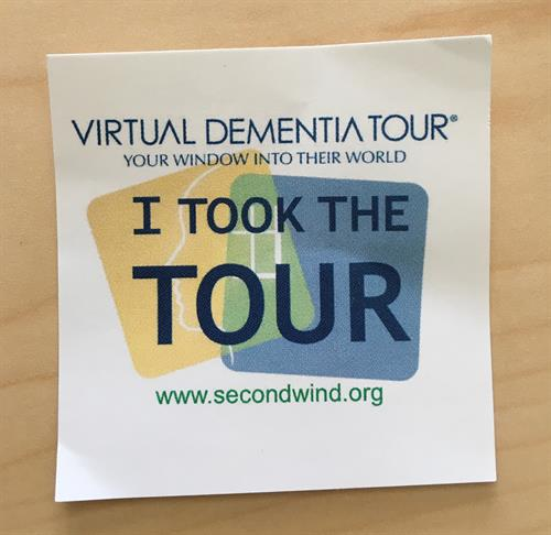 Oasis Senior Advisors Operations Assistant, Claire, took the Virtual Dementia Tour sponsored by alliance partner, Second Wind Dreams! Thanks to Commonwealth Senior Living at Chesterfield for hosting!