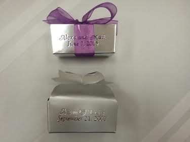 Favors - filled with truffles or assorted chocolates for weddings, bridal showers or thank you token for any event