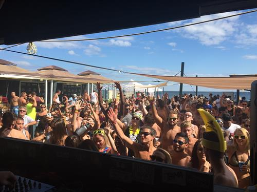 View from Tikki Beach Ocean Lounge DJ Booth