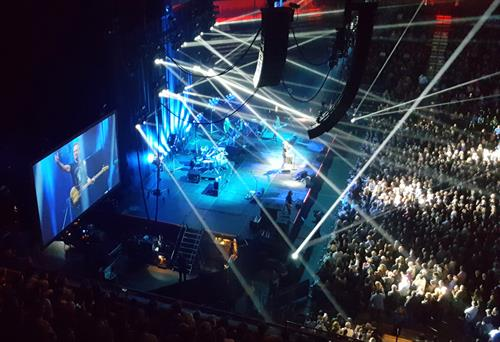 Sting at his March 2017 Mohegan Sun concert benefitting Sofia Sees Hope