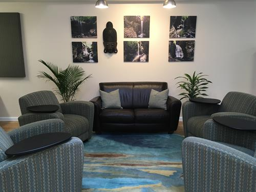 Relax, Collaborate or get some work done in our comfortable chill area
