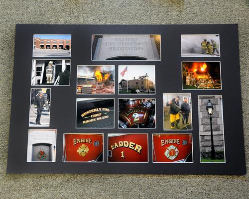 Custom cut collage mats