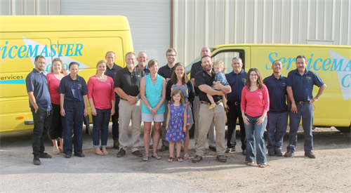 The team at ServiceMaster By Mason celebrates 25 years of serving home and business owners in the community!