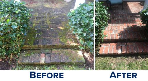 RI & MA Brick Patio Power Washing
