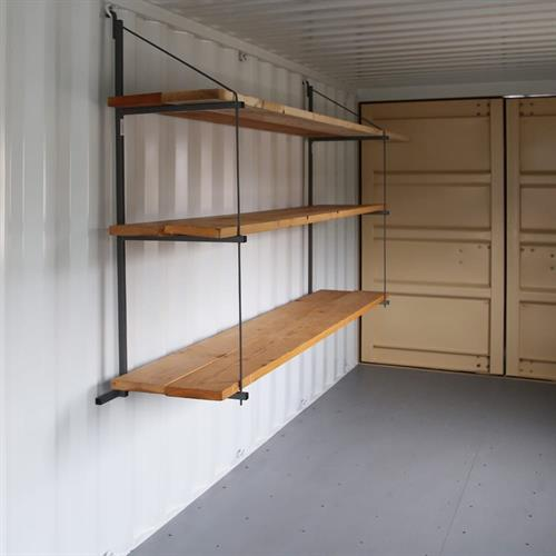 Shipping Container Shelving Options to increase usable space