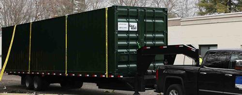 """40"""" New Shipping Container Delivery"""