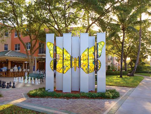 Art in Public Places - Radiant Butterfly Grove by Mark Fuller