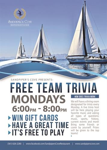 Team Trivia Every Monday 6-8pm
