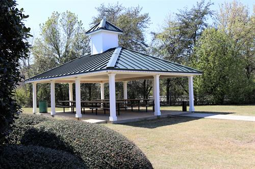 A large picnic pavilion is available for everyone to use at the Perry Welcome Center.