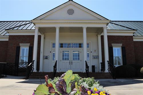 The Perry Welcome Center's front entrance.