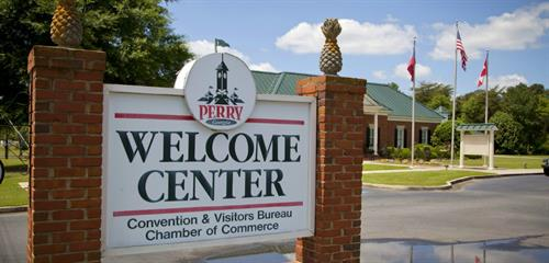 Perry's Welcome Center is located at 101 General Courtney Hodges Boulevard.