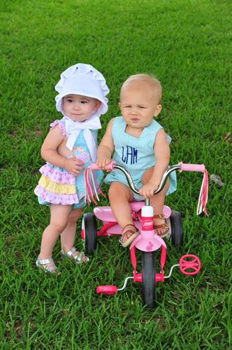 Levi & Kennedy modeling some spring clothes!