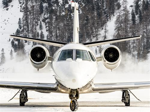 Elevation uses Citation Excel jets - allowing non-stop flights to just about anywhere in the U.S.