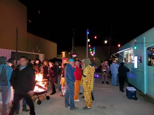 night life at Nona's on Halloween