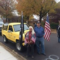 Mary Lee and Rick supporting Veterans Day 2018