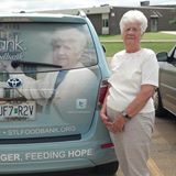 Our Volunteer Dori is Featured on the STL Foodbank Vehicle wrap