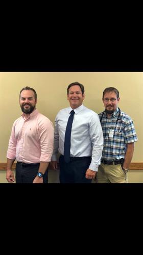 Dr. Steven Wade, Dr. Justin Roberts, Glen Mohan, NP