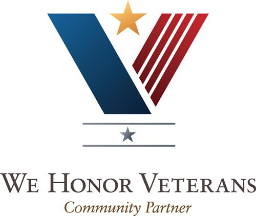 We are a We Honor Veterans Community Partner.
