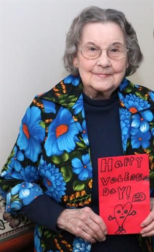 Valentine's Day cards provided by Presbyterian Hospice