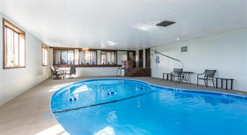 Our heated salt-water indoor pool!