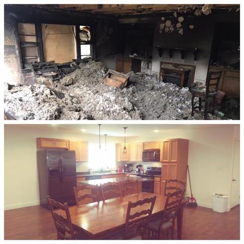 Before and After House Fire