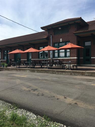 The new patio for outdoor dining