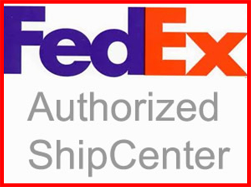FedEx agent for all your shipping needs.