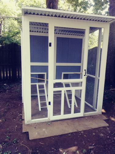 chicken coop made for customer 1