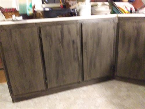 Cabinets refinished for customer 1