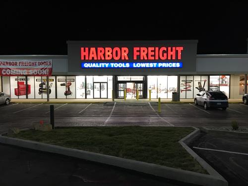 Channel Letters with Lower Cabinet sign - Harbor Freight - Farmington, MO