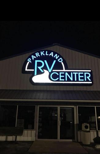 Custom Lighted Cabinet Sign - Parkland RV Center - Park Hills, MO