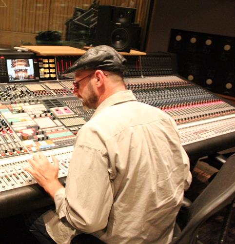 Mix Engineer Greg Edenfield at Neve R-88 Console Studio A at Capitol Records