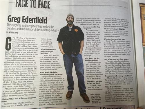 Featured Article Written on Greg Edenfield in the Monterey County Weekly