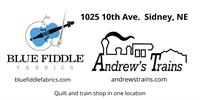 Andrew's Trains / Blue Fiddle Fabrics