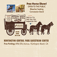 "Free Horse Show and ""Thirsty Horse Saloon"" Oasis"