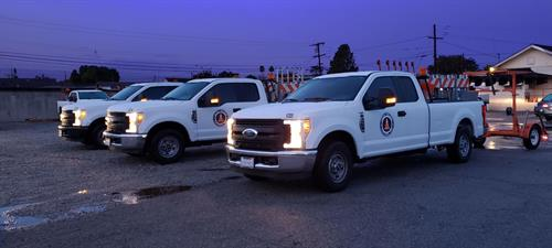 Alcoa Traffic Control Trucks
