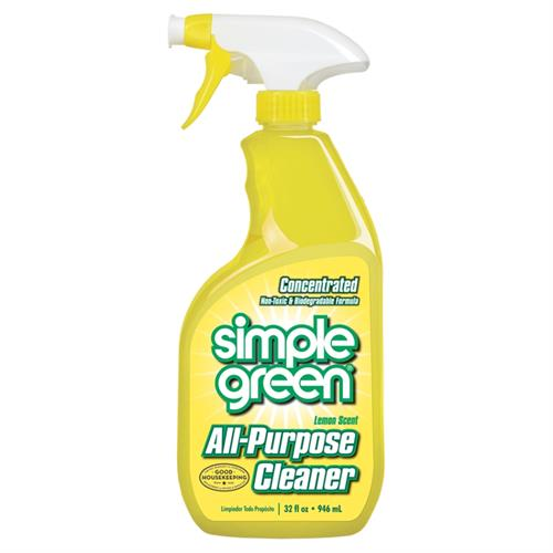 Lemon Scent Simple Green All-Purpose Cleaner's non-toxic and biodegradable formula removes tough dirt and grime without harsh chemicals. The concentrated formula provides up to 30 times the cleaning value, so you can clean more and spend less.