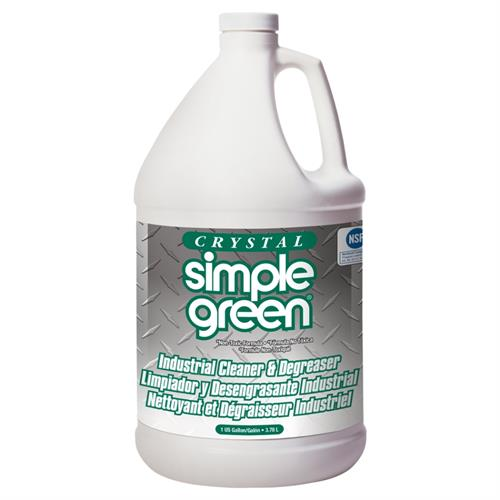 Crystal Simple Green Industrial Cleaner & Degreaser is a powerful, industrial-strength cleaner and degreaser with no added color or scent. The clean rinsing, orally non-toxic and biodegradable formula is NSF registered and exempt from EPA special handling & personal protection requirements for hazardous materials.