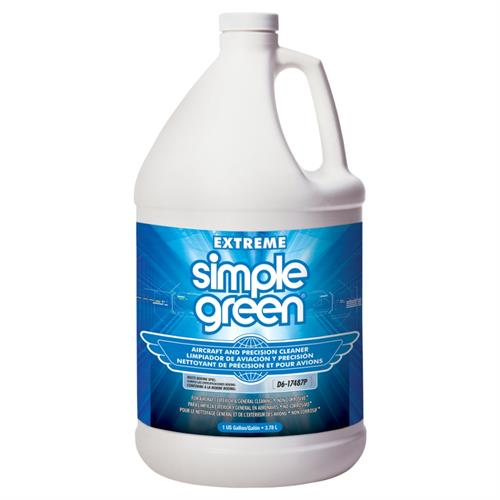 Extreme Simple Green Aircraft and Precision Cleaner cleans and degreases without corrosive chemicals. Its high soil capacity, superior grease-cutting ability and clean rinsing formula prevents redeposition of soils, ensuring fast precision cleaning.