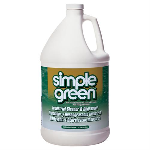 Simple Green Industrial Cleaner & Degreaser Provides superior cleaning and degreasing power that is a safer alternative to toxic chemicals, bleaches and solvents. The formula is non-toxic, non-abrasive, non-caustic, non-flammable and safe for all washable surfaces.
